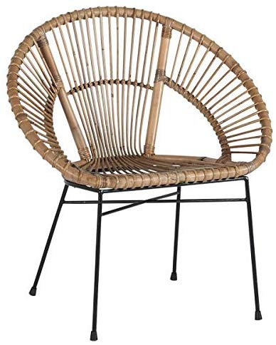 Fauteuil en rotin assise ronde
