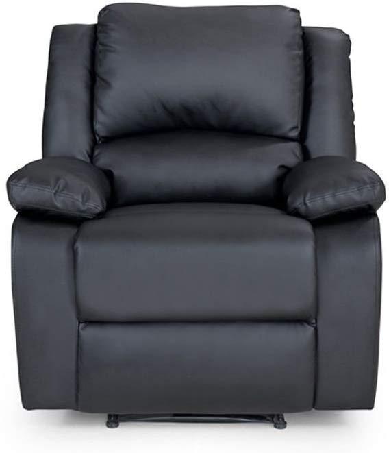 Fauteuil de relaxation en cuir PU noir
