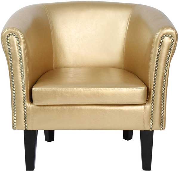 Fauteuil Chesterfield similicuir