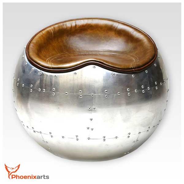 Fauteuil cuir design industriel
