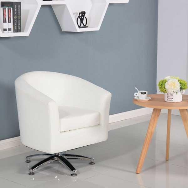 Fauteuil cuir avec assise pivotante